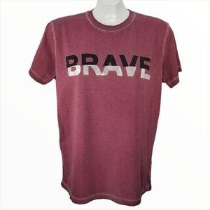 Diesel Maroon Brave 100% Cotton T-shirt Medium